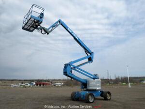 2011 Genie Z-60/34 60' 4WD Diesel Articulating Boom Lift Man Aerial bidadoo