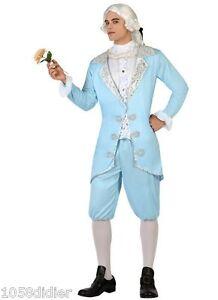 Disfraz-Hombre-MARQUIS-Azul-M-L-Adulto-Cortesano-Elegante-Medieval-NUEVO-Barato