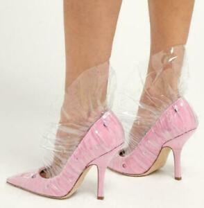 women's clear shoes stilettos high heels pumps leather