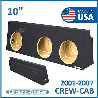 Compatible with 01-06 GMC Sierra Non-HD Crew Cab Truck Harmony F104 Dual 10 Sub Box Enclosure