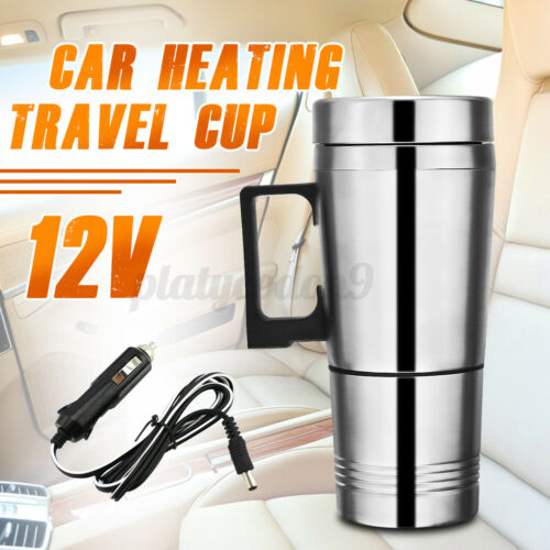 300ML Stainless Steel 12V Car Insulated Heating Mug Thermos Travel Cup Kettle US