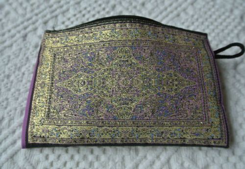 Free Shipping Purple Kilim Patterned Coin Purse Bag Hobo Hippy Ethnic Oriental