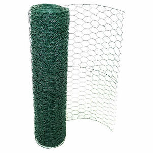Details about PVC COATED CHICKEN WIRE MESH RABBIT AVIARY MESH GARDEN FENCE  PANEL BARRIER