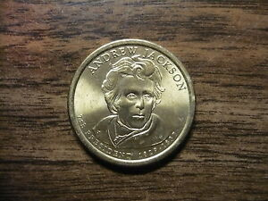 andrew jackson 2008d gold dollar type 2 clad coin 7th president denver 377 ebay. Black Bedroom Furniture Sets. Home Design Ideas