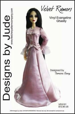 "Feeling Steamed Doll Clothes Sewing Pattern for 17/"" Vinyl Evangeline Ghastly"