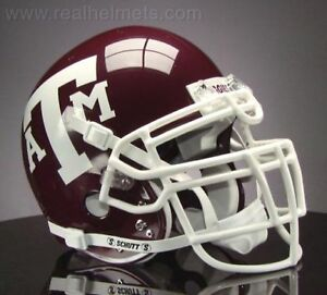 TEXAS-A-amp-M-AGGIES-NCAA-Schutt-XP-Full-Size-AUTHENTIC-Gameday-Football-Helmet