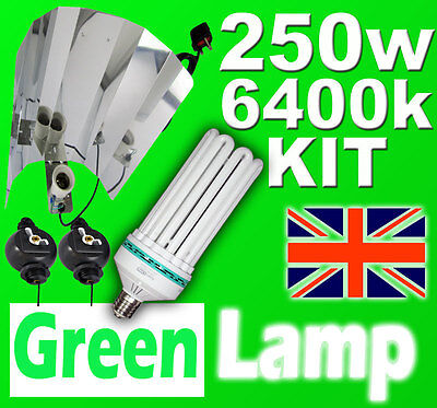 85w 6400k Lamp Hydroponics Light grow tent E27 not E40//HPS CFL Wing Reflector