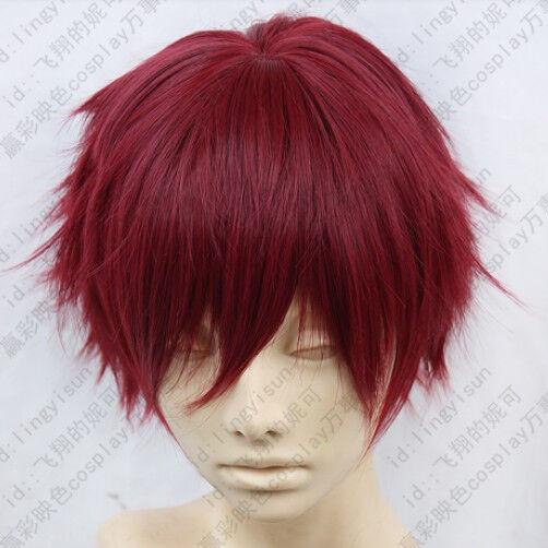 253 Hiiro no Kakera Takuma Onizaki Wine Red Cosplay Wig Postage Free