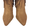 thumbnail 8 - Womens-Ladies-Tan-Faux-Suede-High-Heel-Fringe-Shoes-Ankle-Boots-Size-UK-8-New