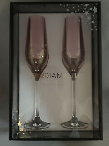Image Is Loading Brand New Set Of 2 Diamante Crystal Pink