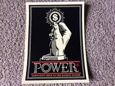 Shepard Fairey Obey 'encendido' Art Pegatina. como Banksy, Paul insecto