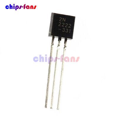 2pcs NPN TO-92 25V 200mA 625mW FAIROHILD 2N4124 Transistor