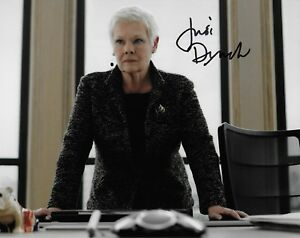 Judi Dench in person signed autograph M Photo James Bond