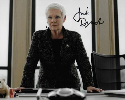 Judi Dench in person signed autograph M Photo James Bond