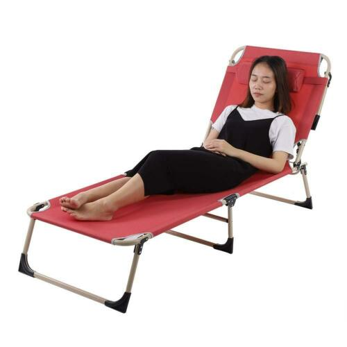 Portable Single Folding Bed w// Mattress Camping Camp Travel Guest Child Chair