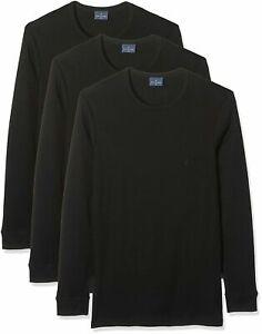 3-Stucke-Navigare-T-Shirt-Herren-Rundhalsausschnitt-Heis-Baumwolle-Langarm-Intim