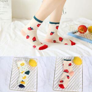 Cotton-Socks-Girls-Casual-Soft-Orange-Strawberry-Fruit-Socks-Warm-Breathable