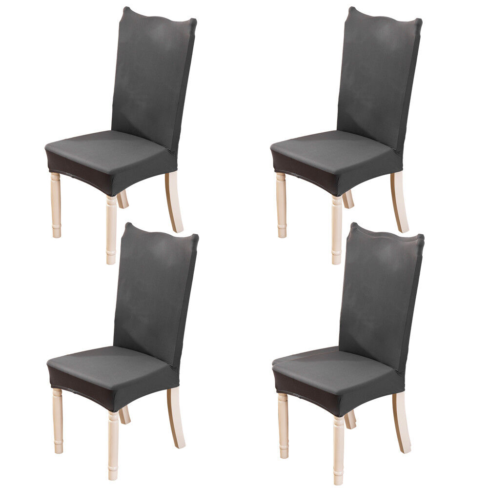 4pcs/Set Spandex Stretch Chair Cover Dining Room Seat Covers