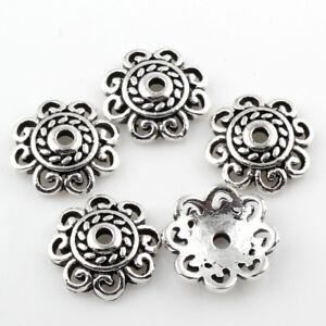 Perlen Kappe Bronze Metall Deko DIY Spacer 10//25//50//100x Perlenkappen Mix