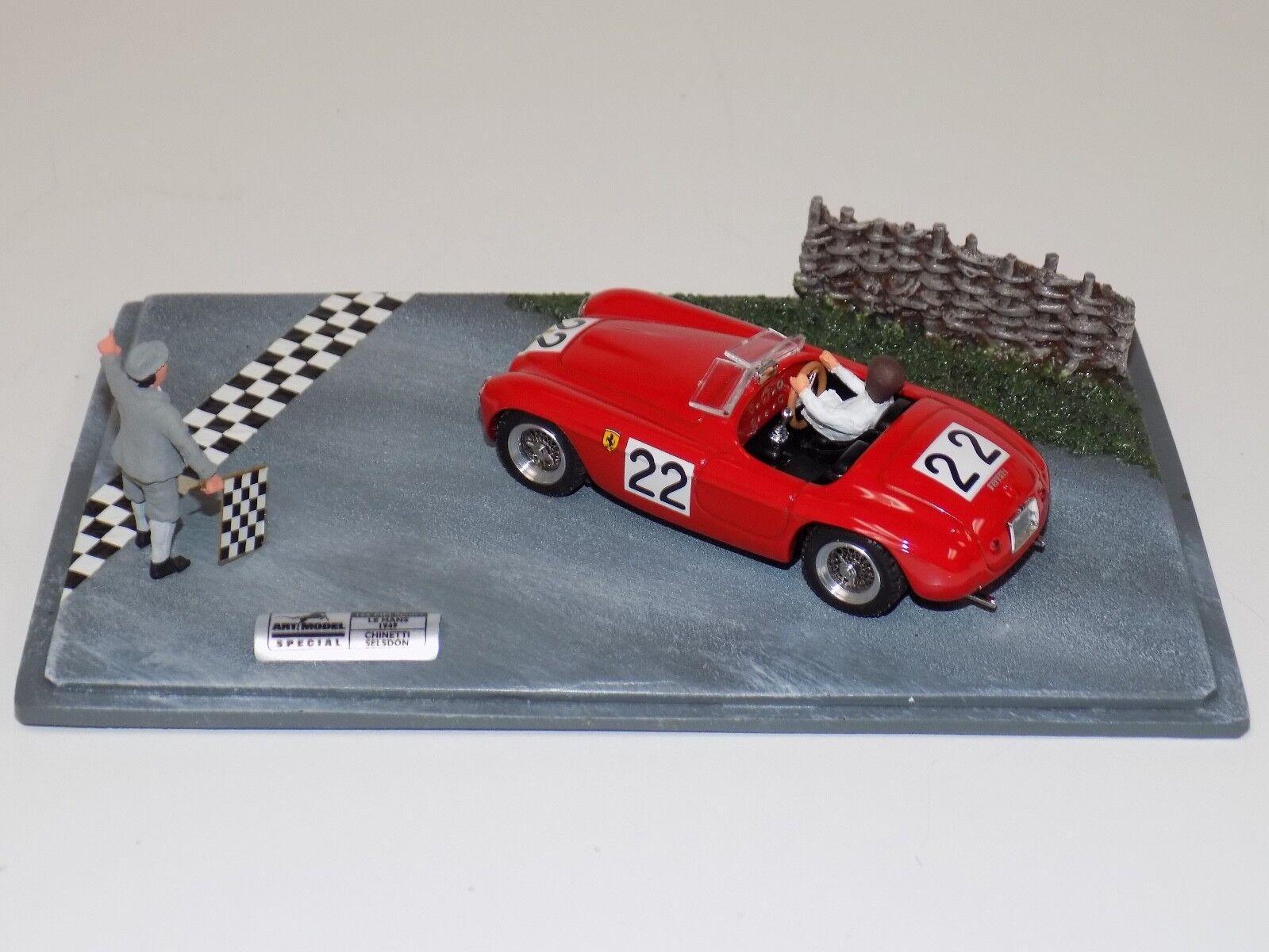 Modelo de arte 1 43 Ferrari 166 mm Araña Coche de Lemans ART909 Diorama