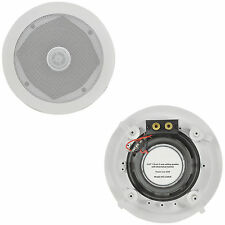 "PAIR CEILING/WALL SPEAKERS - 5.25"" 60W 8OHM - DIRECTIONAL TWEETER"