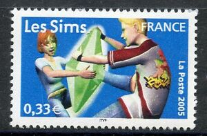 STAMP-TIMBRE-FRANCE-NEUF-N-3851-HEROS-DES-JEUX-VIDEO-LES-SIMS