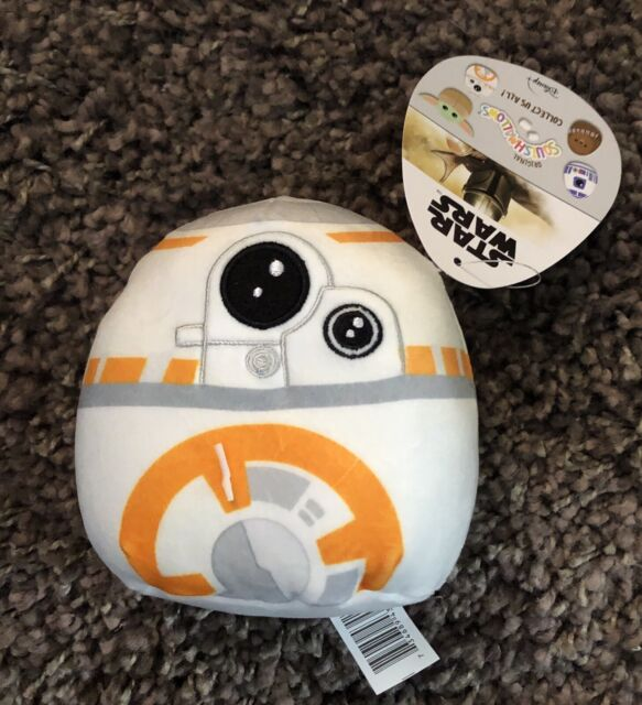 "Squishmallow Disney Star Wars 5"" Mini BB8 Kelly Toys Mandalorian Plush NWT"