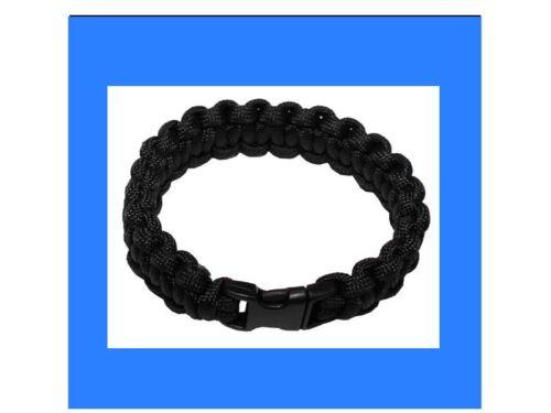 Gr S schwarz Befestigung Survival Armband Schnur Paracord Outdoor Seil