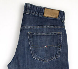 Tommy-Hilfiger-Hommes-Slim-Jeans-Jambe-Droite-Taille-W32-L32-AOZ343