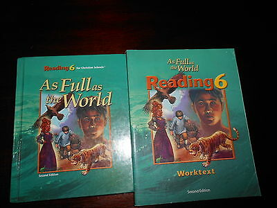 Bob Jones Reading 6  BJU lot of 2 homeschooling student reader and workbook