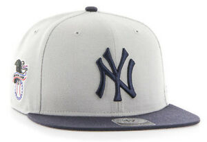 NEW-YORK-YANKEES-MLB-SURE-SHOT-FLAT-BILL-2-TONE-SNAPBACK-CAP-HAT-NWT-039-47-BRAND
