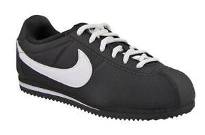 d25674cb3c63 Nike Cortez Nylon (PS) Black White KIDS Running Shoes Size 2.5Y