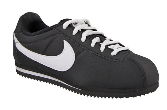 NIKE CORTEZ NYLON PS YOUTH SNEAKERS BLACK//WHITE 749494 001 Size 1.5Y