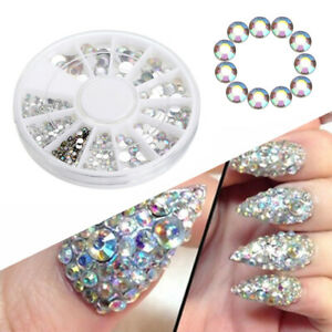Make Up Glitter Rhinestones 3D Nail Art Decoration Sticker Gel Bling ... 209a5e4a39fb