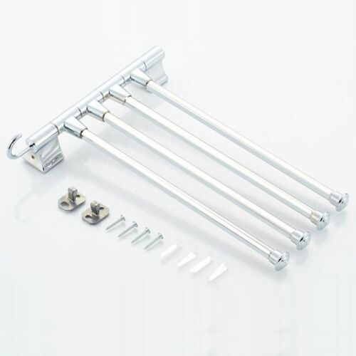 Stainless Steel Towel Rack Multi Arms Towel Hanging With Hooks Bathroom Product