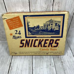 Vintage-Mars-Snickers-Candy-Box-24-Pack-1958-Box-Only