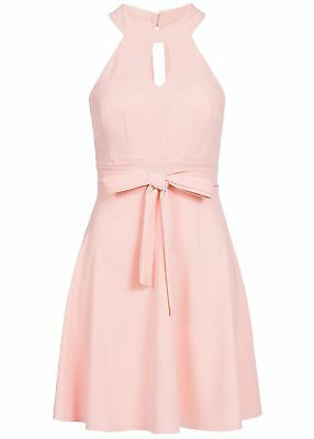 36/% OFF B18037182 Damen Violet Kleid kurz geblümt mit Brustpads Zipper weiß rosa