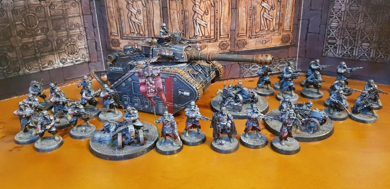Fuerza de defensa Death Korps de Krieg pintado Super Ejército Pack Warhammer 40k