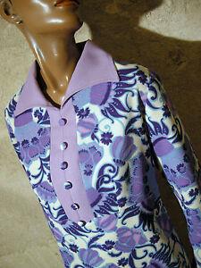 44 Mod 70s 70er 1970 Chic 42 Vtg Vintage Kleid Abito Psychedelic Dress Robe YCxCw7XFq