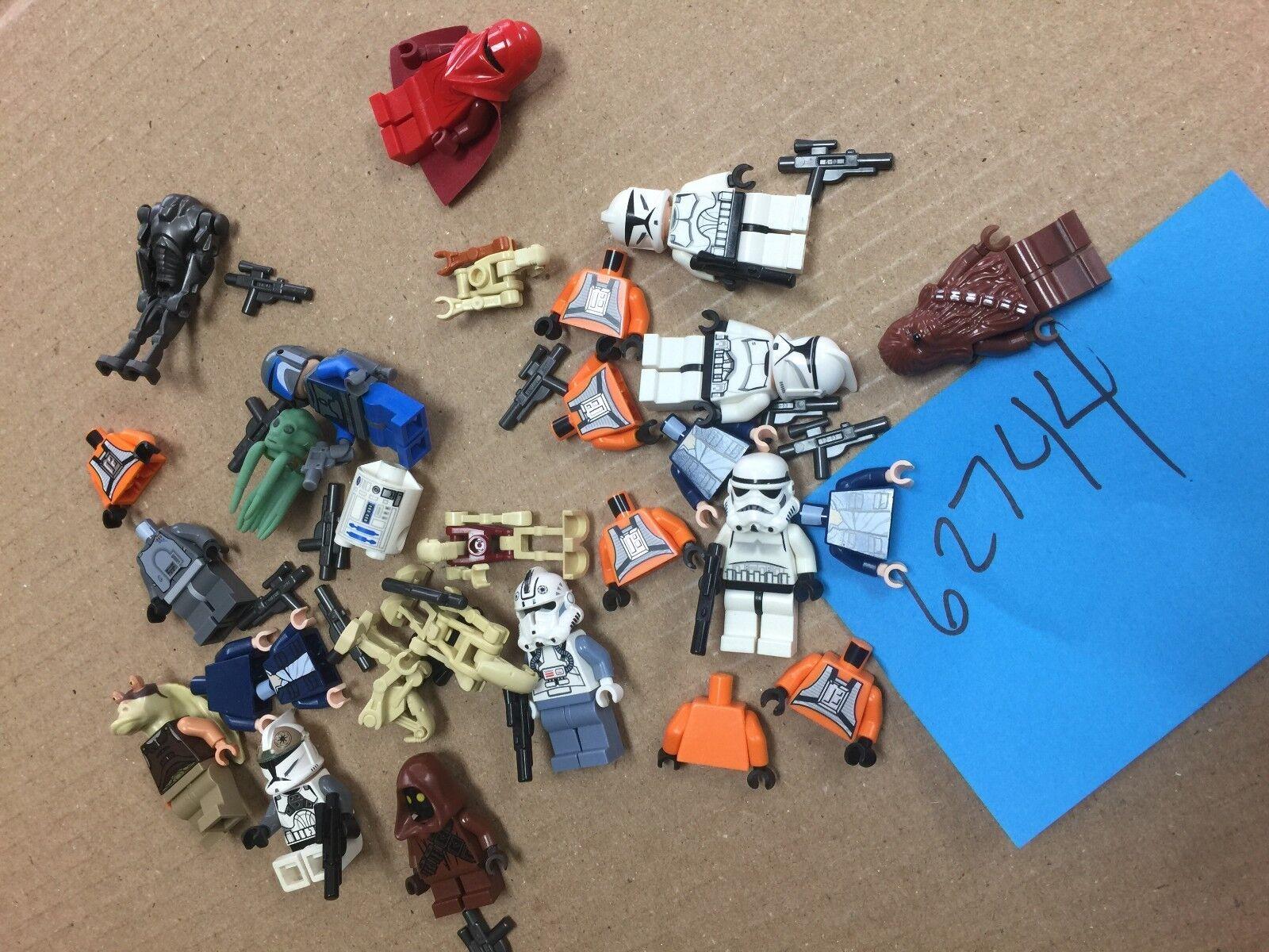 Lego, Star Wars, Various Parts, Heads, Torsos, R2, Imprial, Minifigs Lot 62744