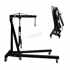FoxHunter Black 1 Ton Hydraulic Folding Engine Crane Shop Stand Hoist lift Jack