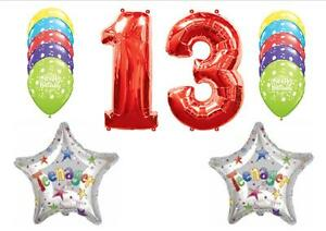 Image Is Loading 13TH TEENAGER HAPPY BIRTHDAY PARTY BALLOONS Decorations Supplies