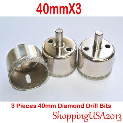 2x 42mm Diamond Drill Bits Hole Saw Cutter Metal Tool Glass Marble Granite Tile