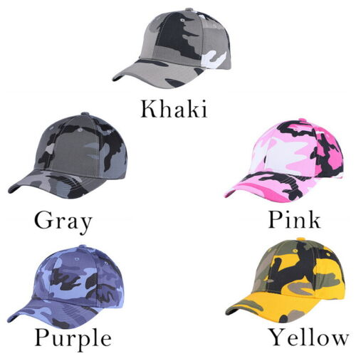 NEW Unisex Summer Camo Breathable Baseball Cap Cotton Adjustable Fishing Cap