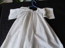 Antique French Baby Dress with pintucks.Victorian, very full.