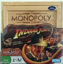 NEW INDIANA JONES Monopoly Board Game Collectors Edition WOOD CREATE BOX