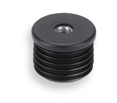 2 Gewindestopfen/Buchsen/Kappen für Rundrohre von 22 bis 40 mm Durchmesser