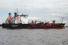 """Echtfoto, Chemikalienfrachter """"Stolt Shearwater"""" auf der Elbe, 2010"""