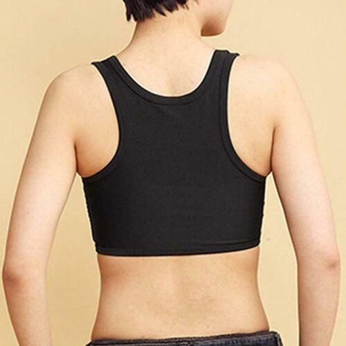 Women Buckle FTM Short Chest Breast Binder Lesbian Trans Tomboy Plus Size H B7E5