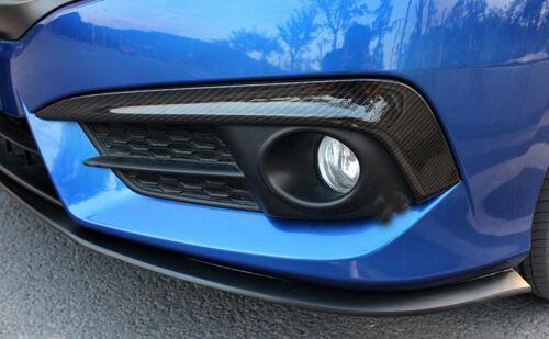 Car Carbon Fiber Front fog light Eyelid Cover Decoration for Honda Civic16-17